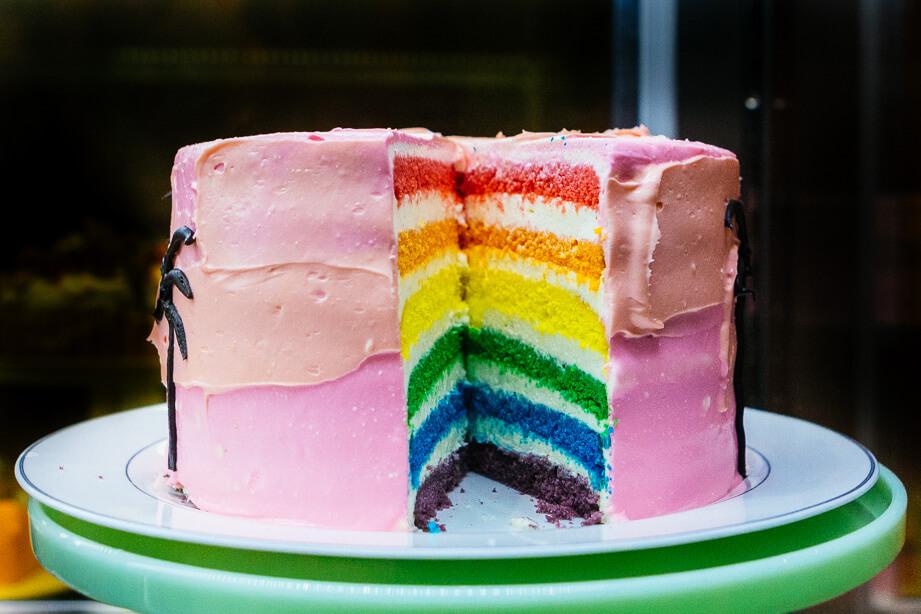 rainbow cake dore dore