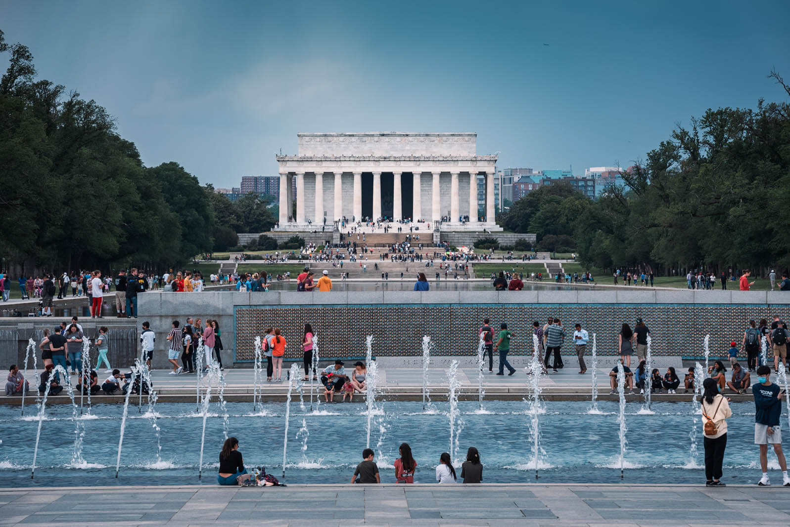 The Lincoln Memorial at the end of the National Mall in Washington DC