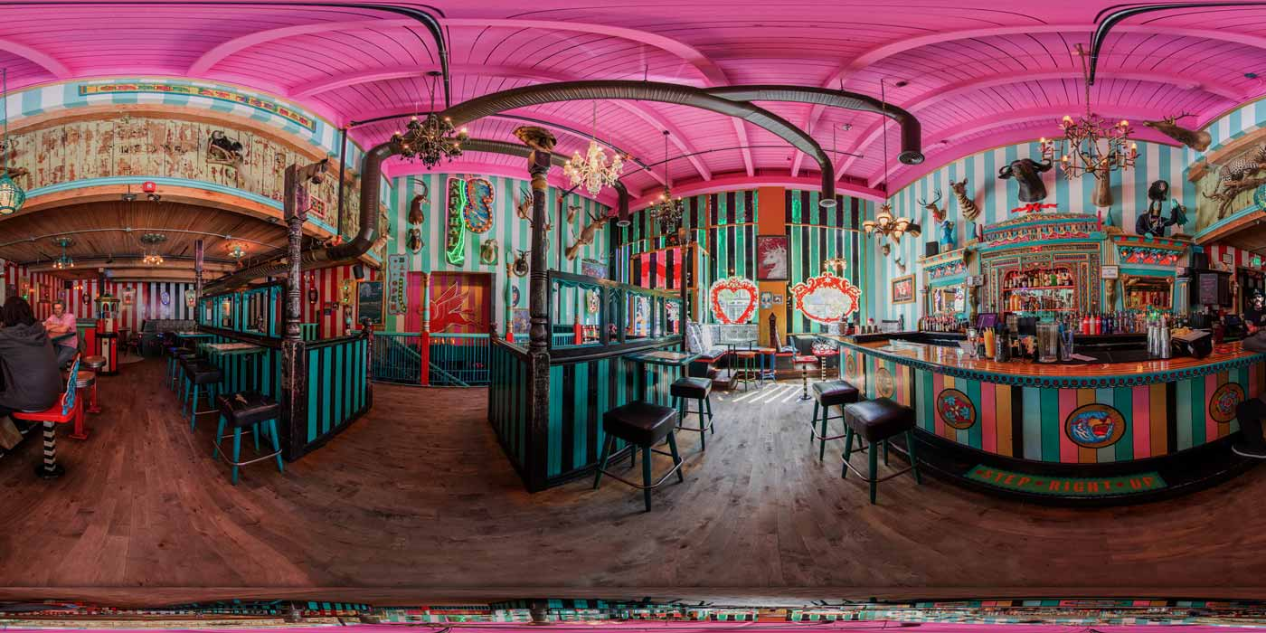 A 360 Panorama bof the inside of Unicorn Narwhal in Capitol Hill