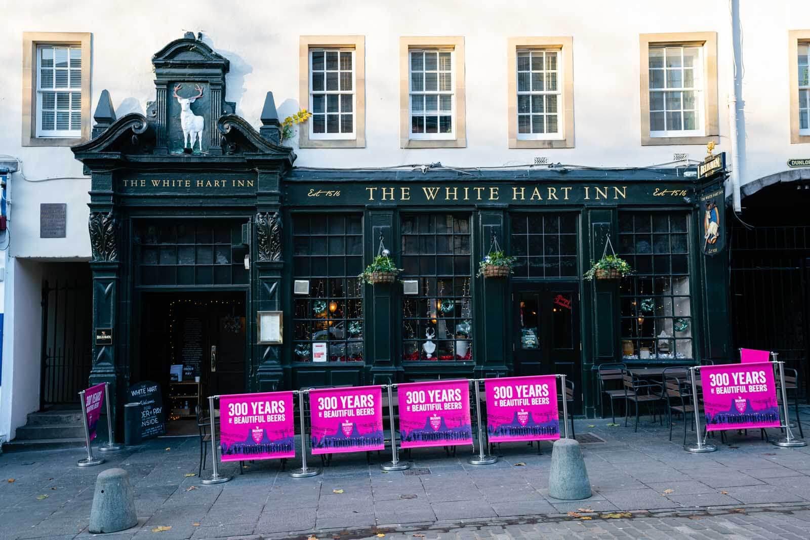 The White Hart Inn Edinburgh pub crawl