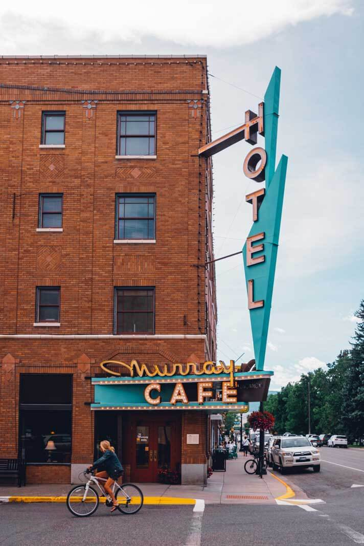The historic Murray Hotel in Livingston Montana
