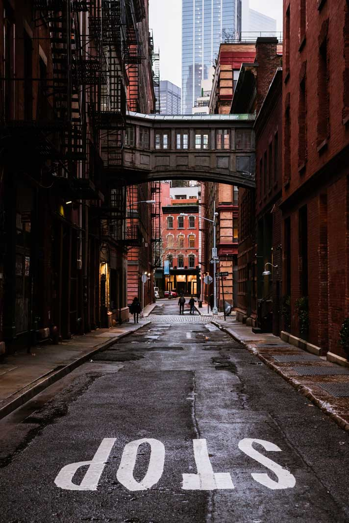 Amazing Side Alley in Tribeca New York City