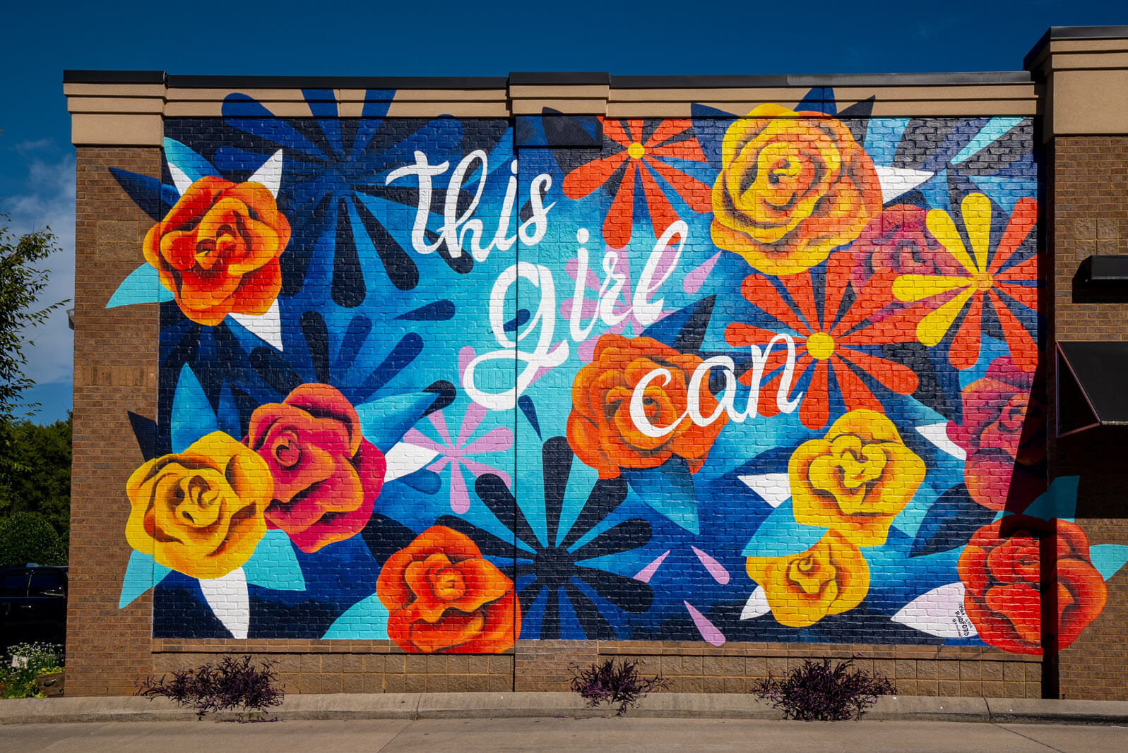 This Girl Can Mural in Nolensville Tennessee