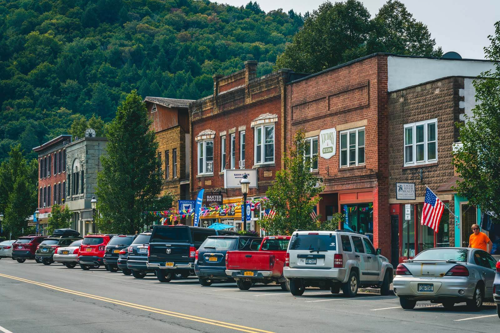 Town of Roscoe in the Catskills New York