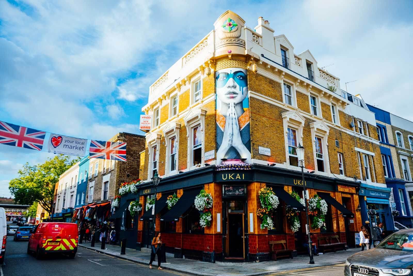 Ukai restaurant on Portobello Road in London