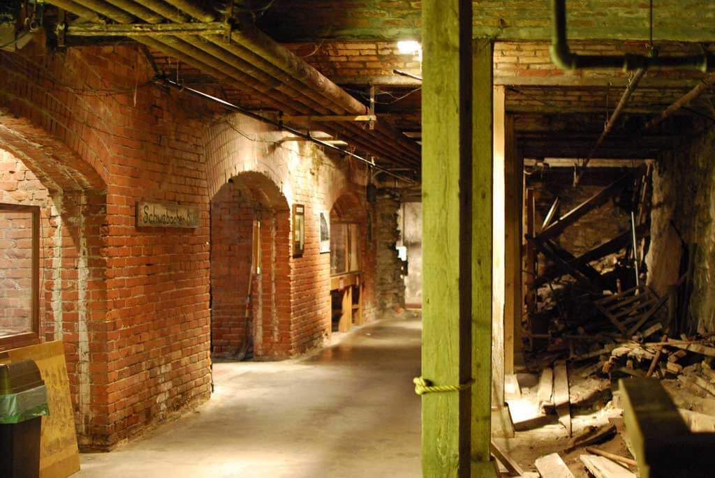 A photo of the abandoned underground in Seattle that great fire of 1889 that destroyed 31 blocks in downtown Seattle