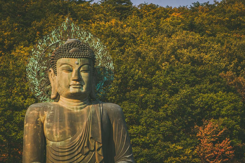 Buddha in Seoraksan National Park in Korea