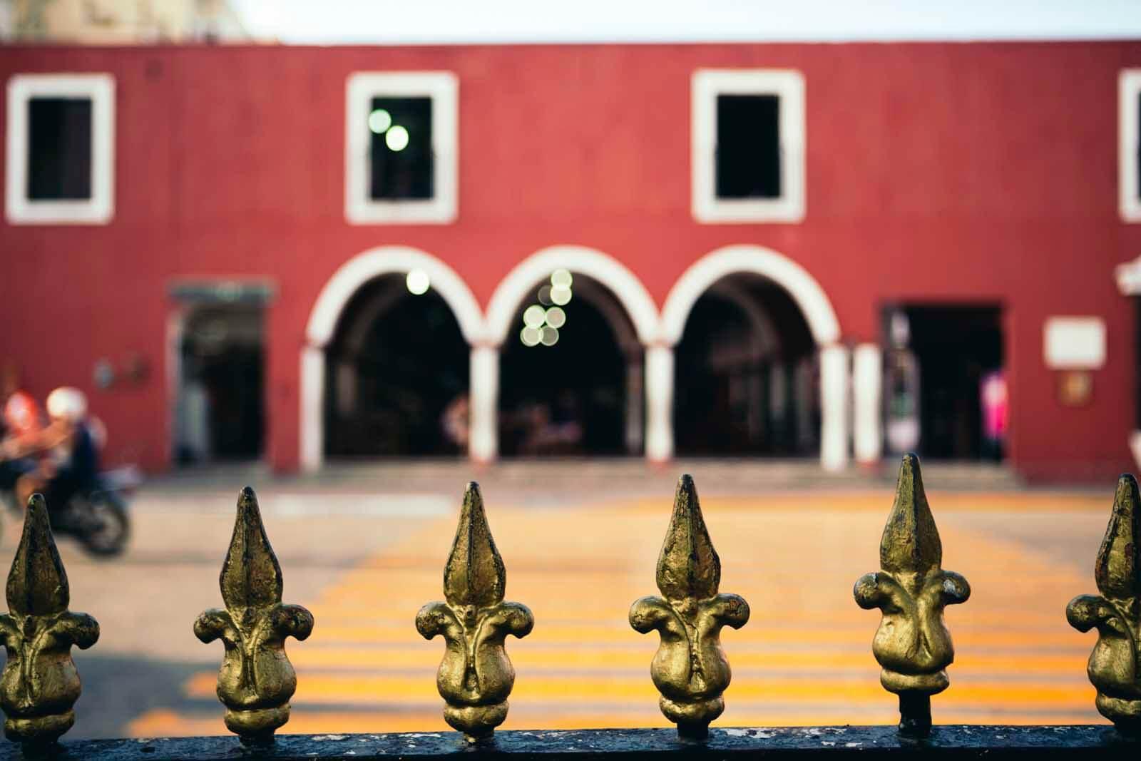 Valladolid city center in Mexico