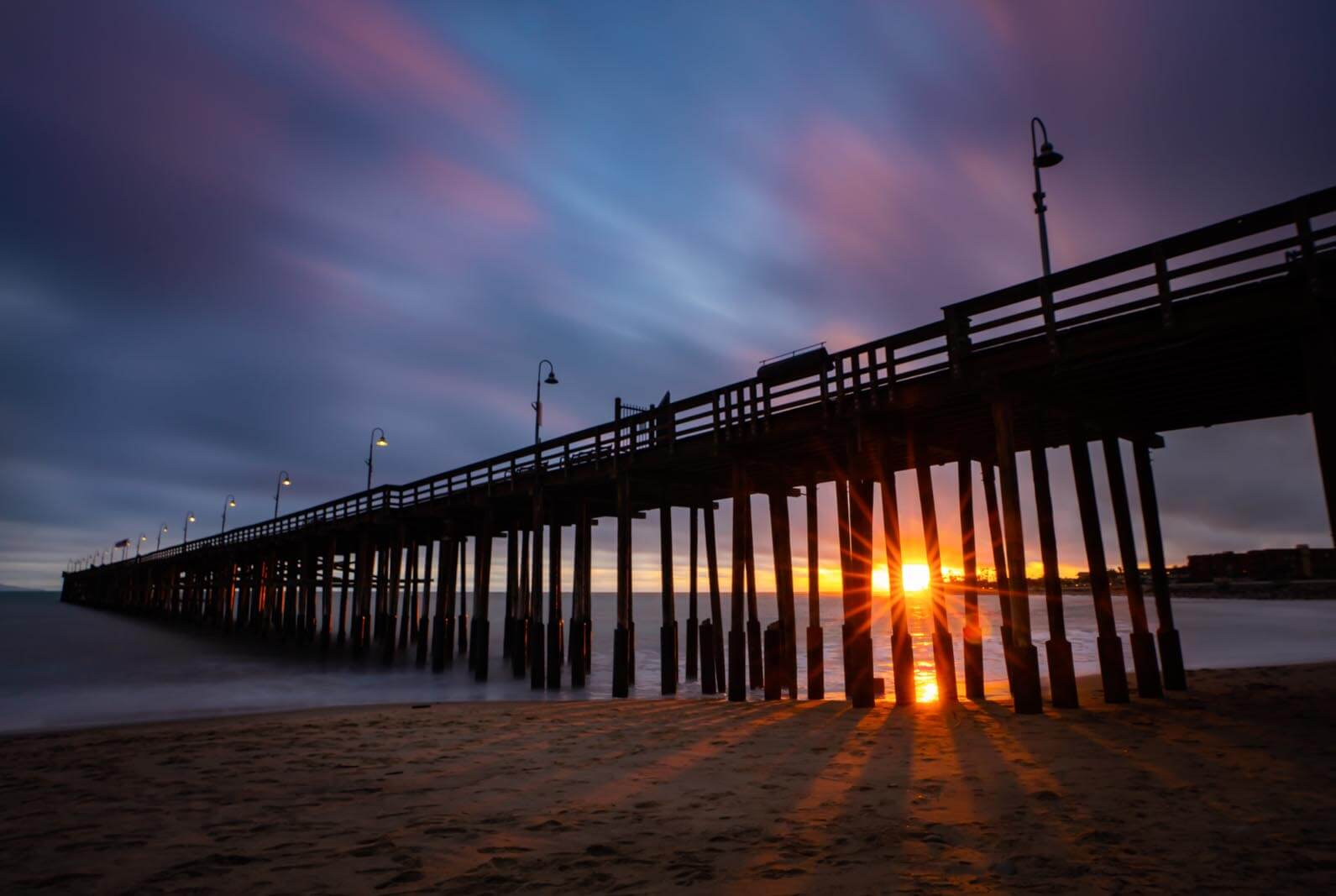 Ventura Pier at Sunset in Ventura California