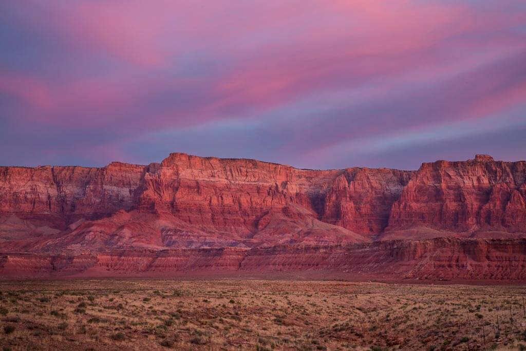 Vermillion Cliffs at sunset