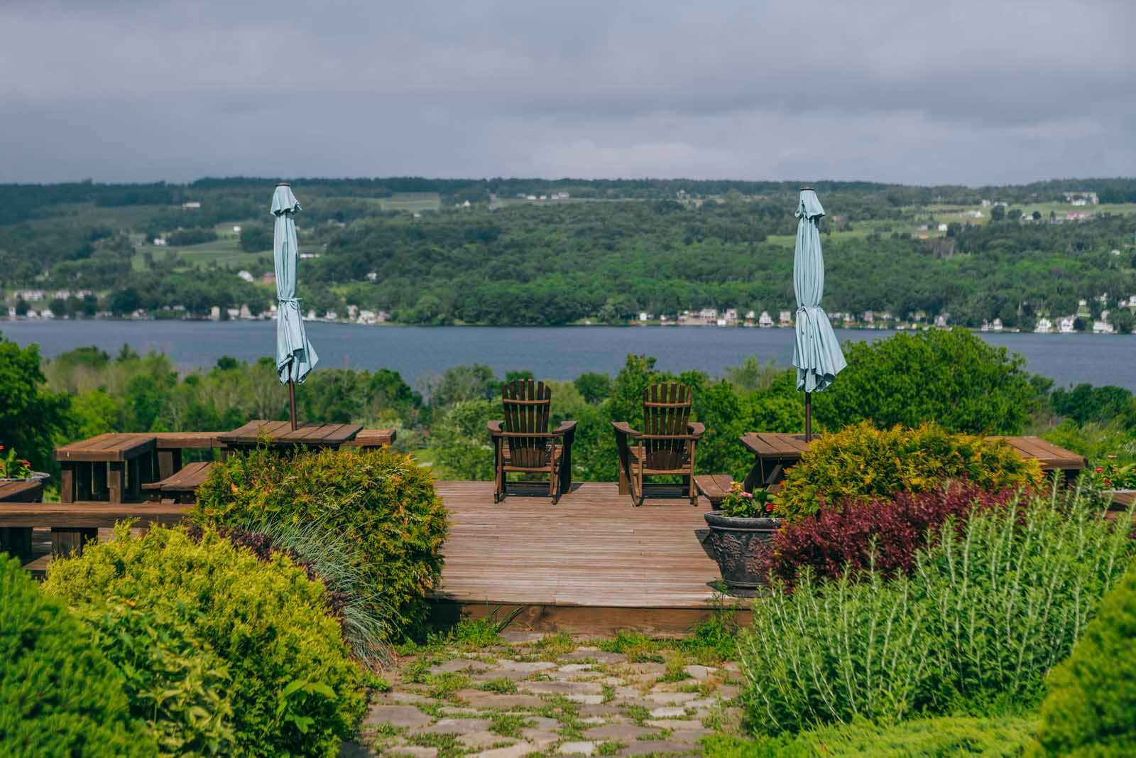 View of Keuka Lake at Keuka Spring Vineyard