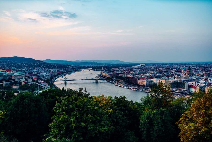 View of Budapest from the Citadella viewpoint