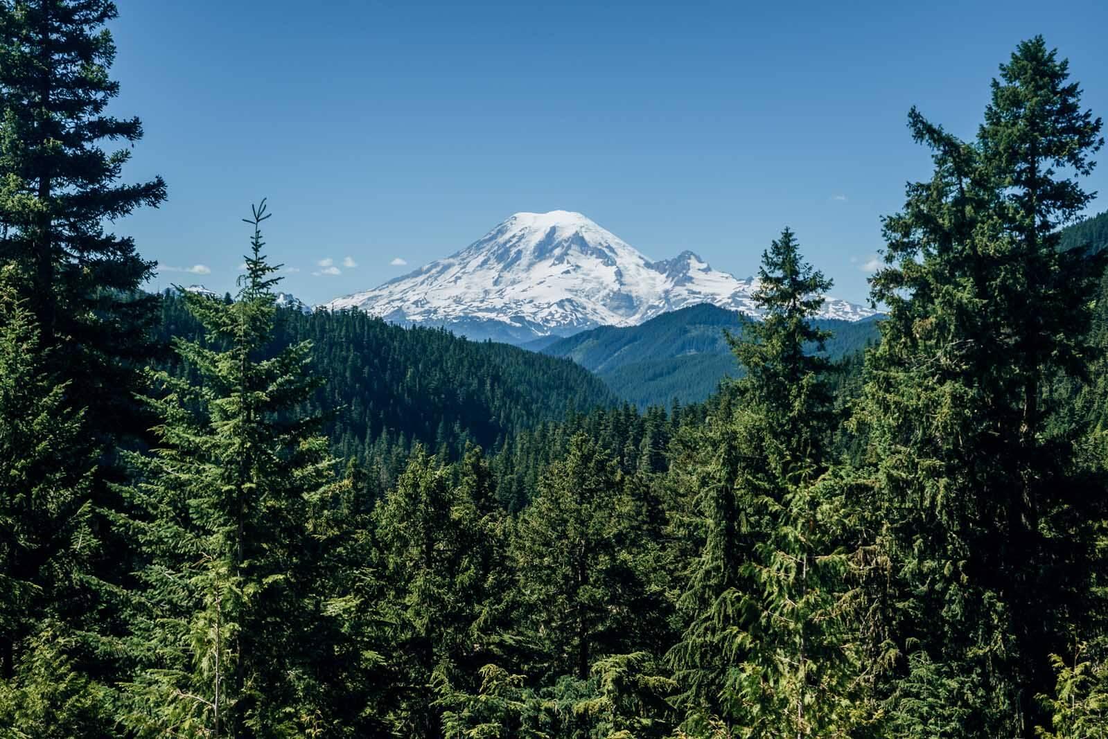 Amazing view of Mt. Rainer from White Pass