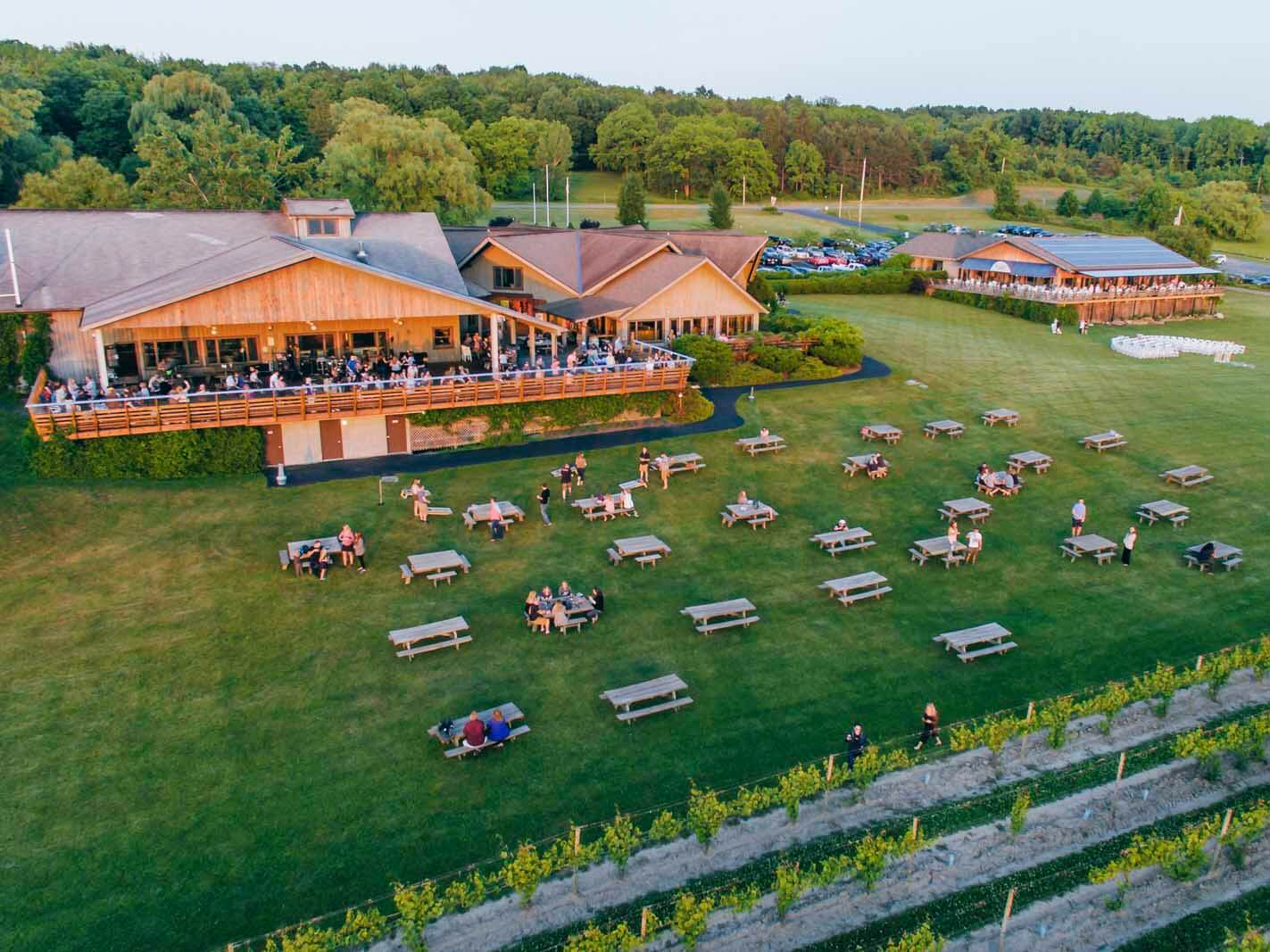 Wagner Vineyards on Friday evening in the Finger Lakes