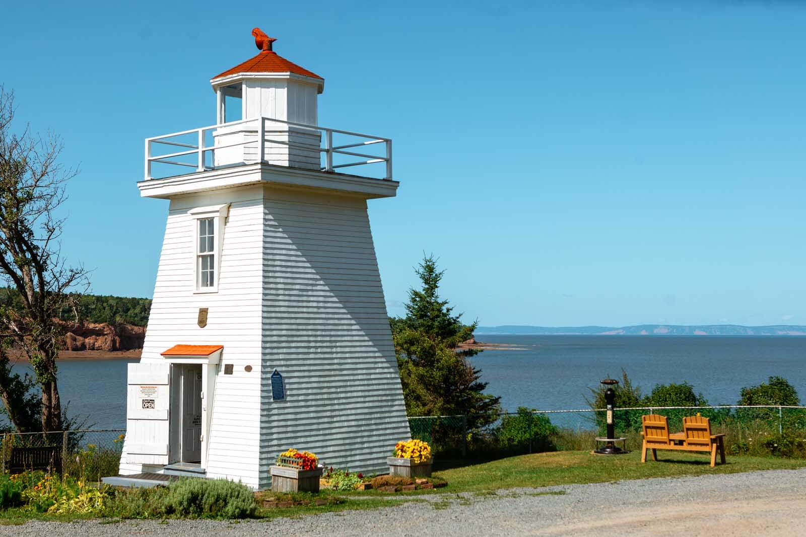 Walton Lighthouse at the Bay of Fundy in Nova Scotia
