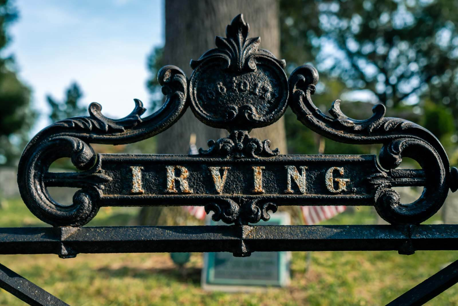 Washington Irvings family plot in Sleepy Hollow Cemetery