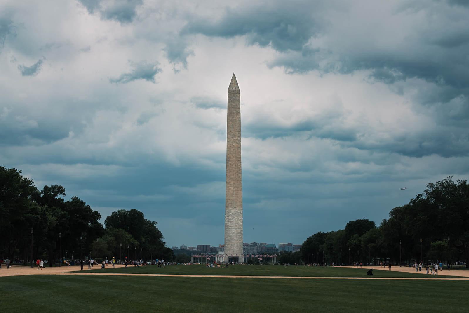 Washington Monument on the National Mall in Washington DC