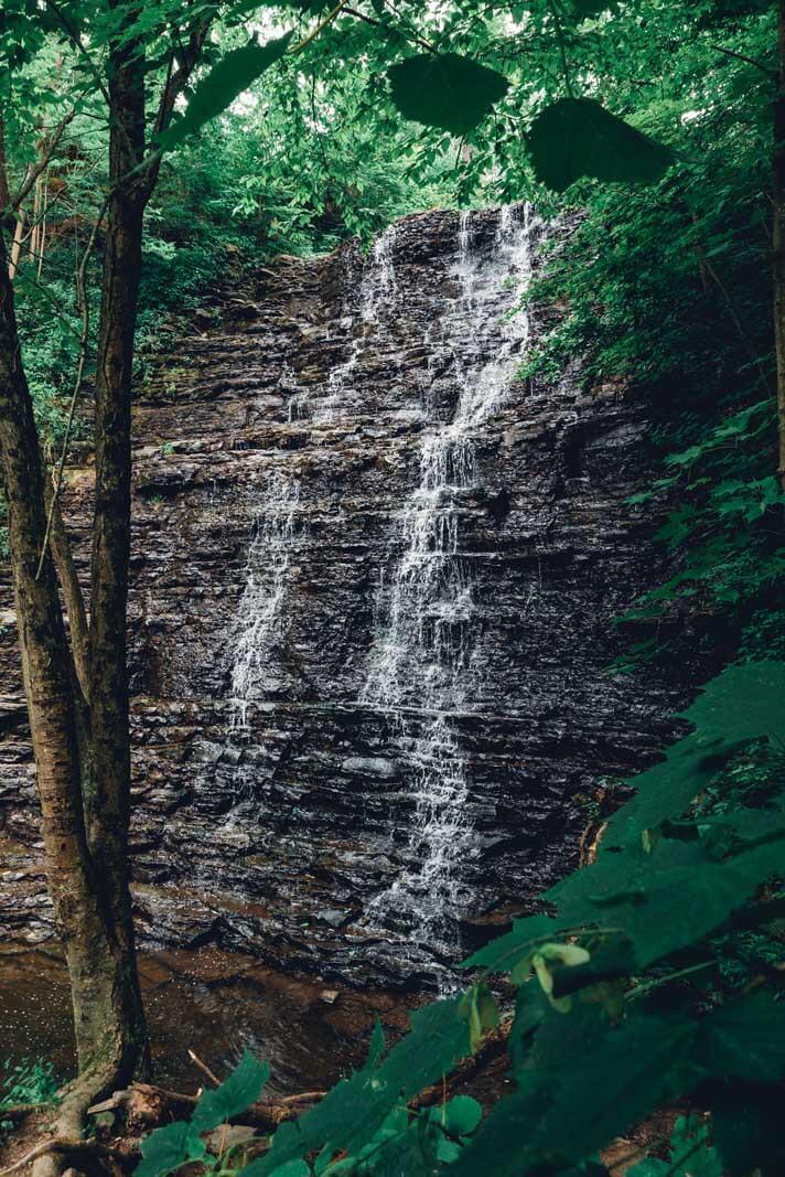 Waverly Glen Waterfall in the Finger Lakes Region