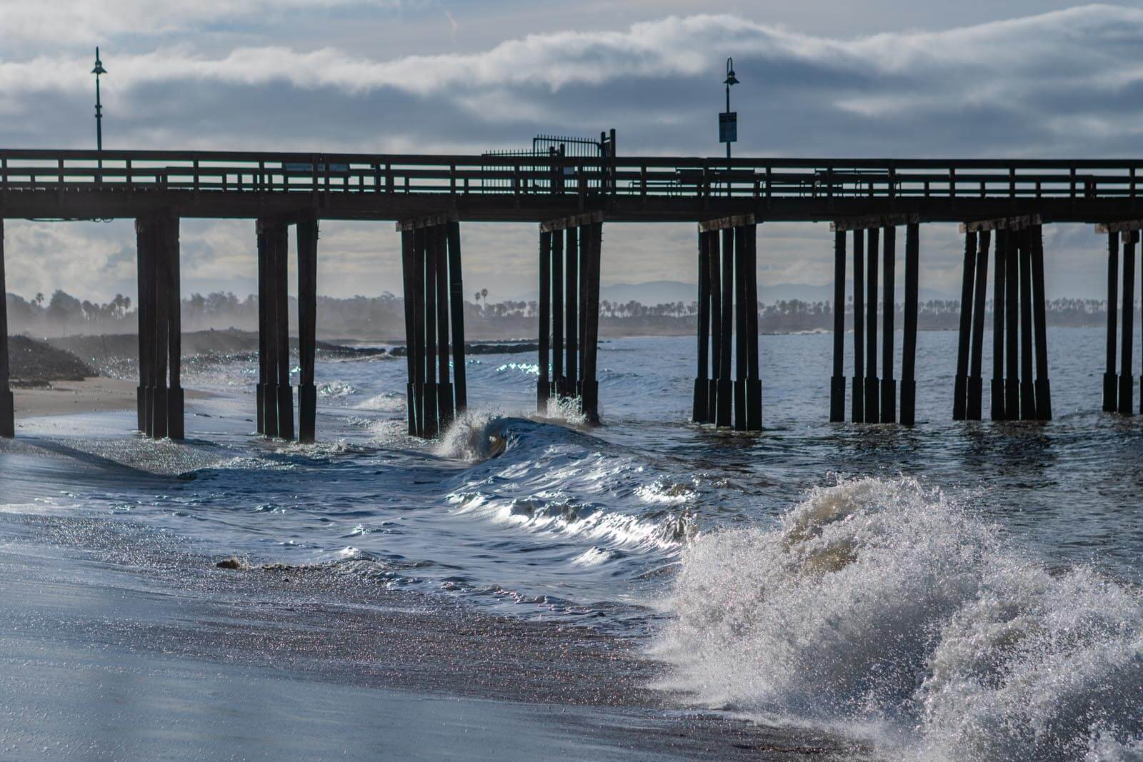 Waves at Ventura Pier in Ventura California