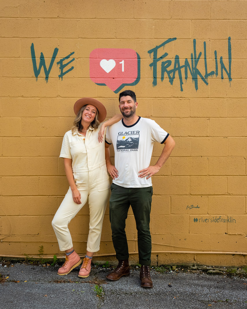 We Heart Franklin mural in Tennessee