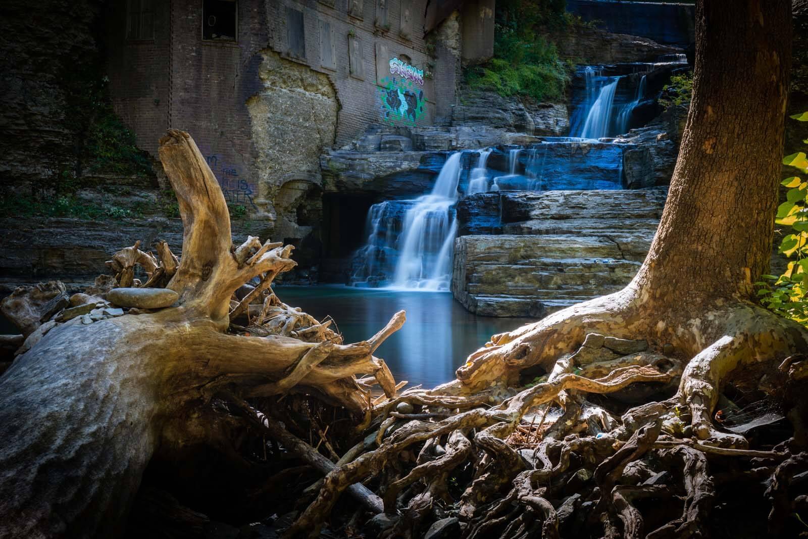 Wells Falls on Six Mile Creek in Ithaca New York