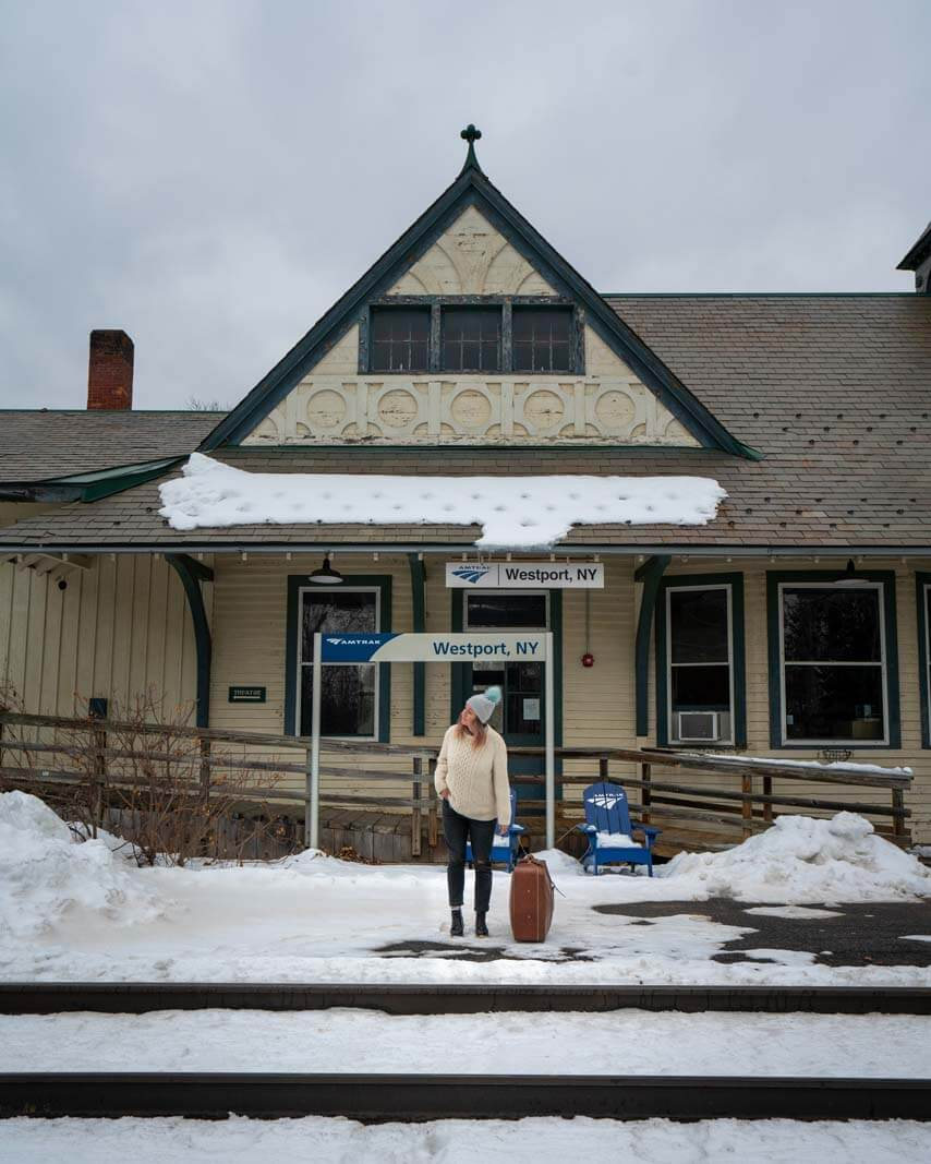 Westport Amtrak Station in the Adirondacks New York