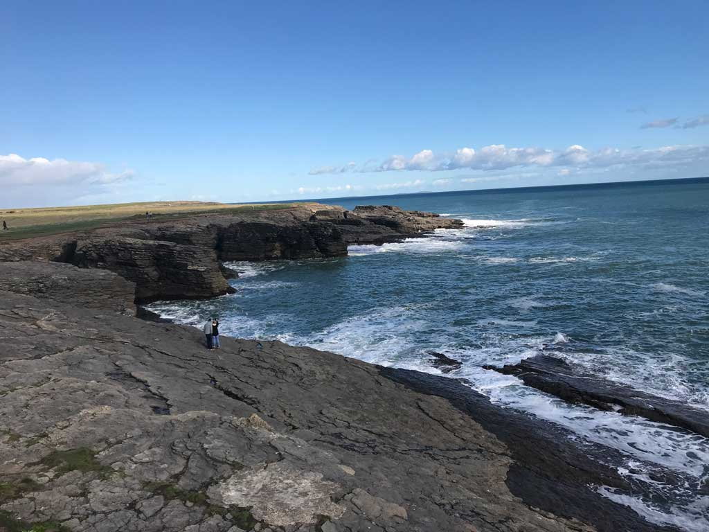 Wexford coastline in Ireland
