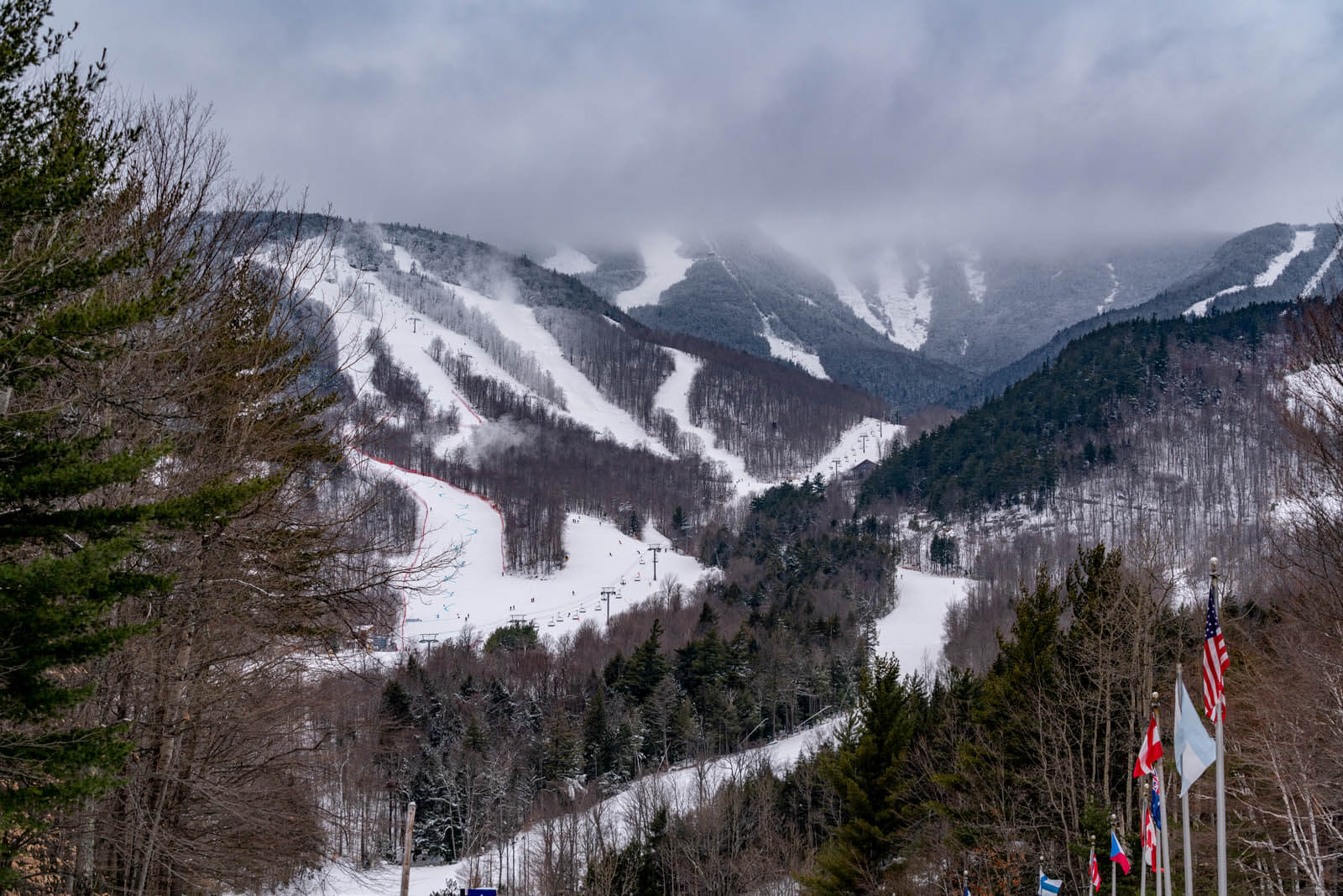 White Face Mountain ski resort near Lake Placid in the Adirondacks in New York