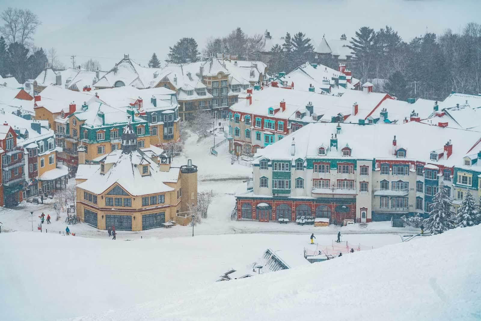 Winter in Mont Tremblant village
