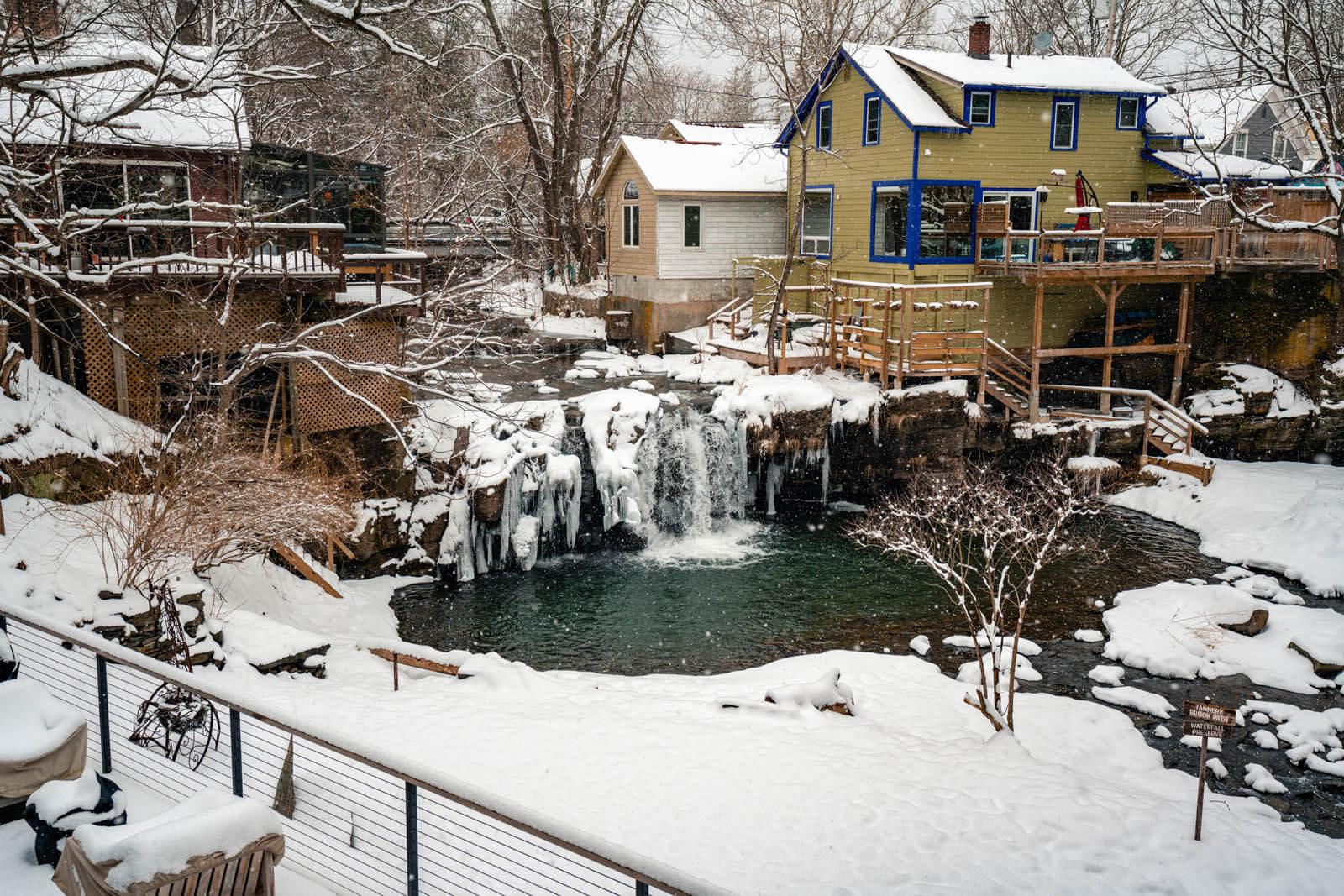 Woodstock Waterfall Park in the Catskills New York