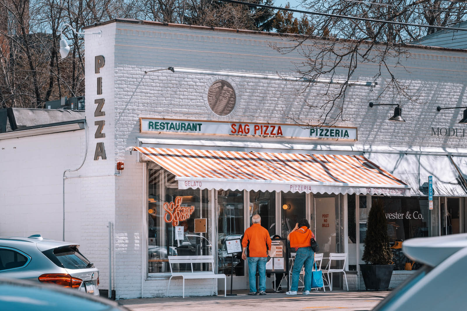 adorable pizza shop in Sag Harbor one of the most charming towns in the Hamptons New York