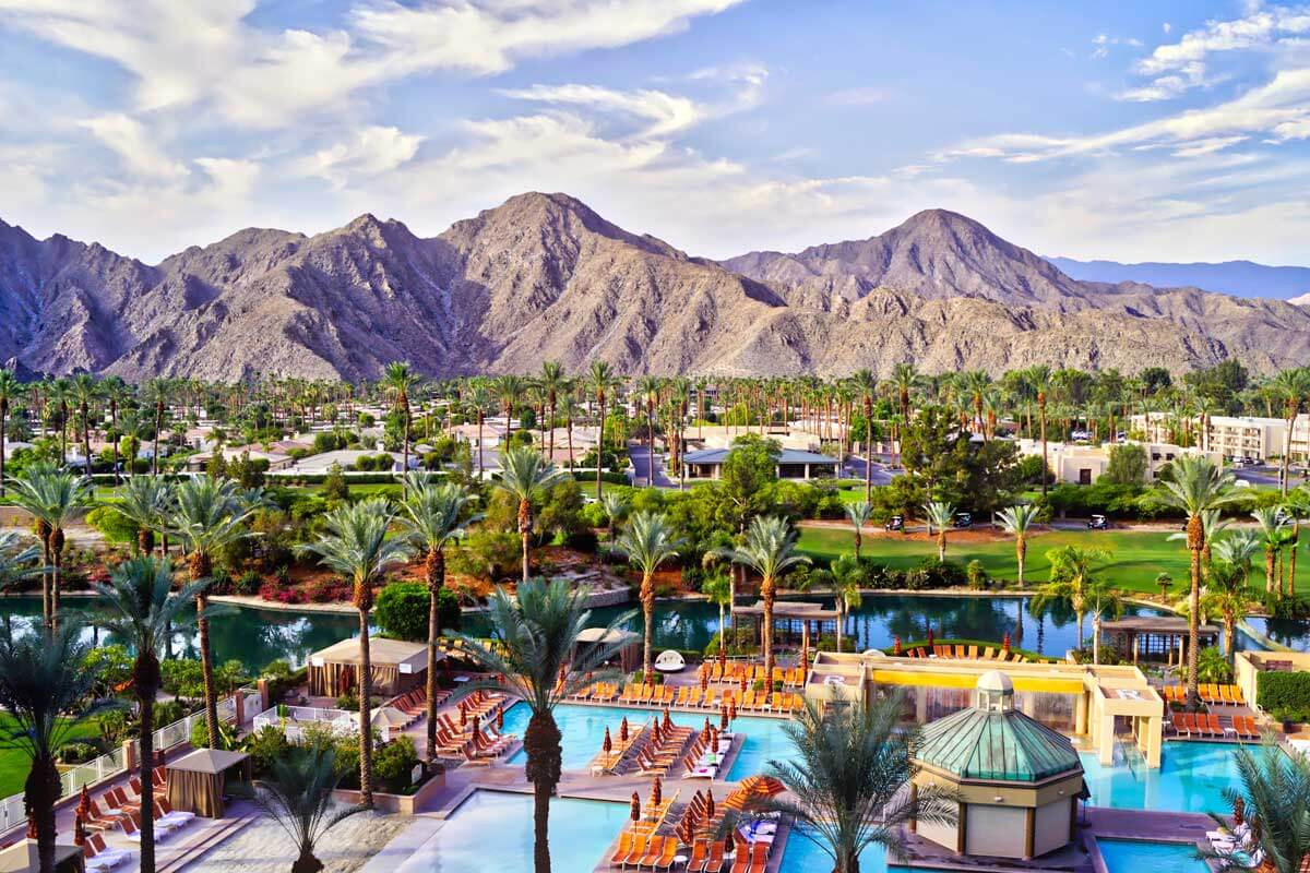 aerial-view-of-Palm-Springs-resorts-in-California