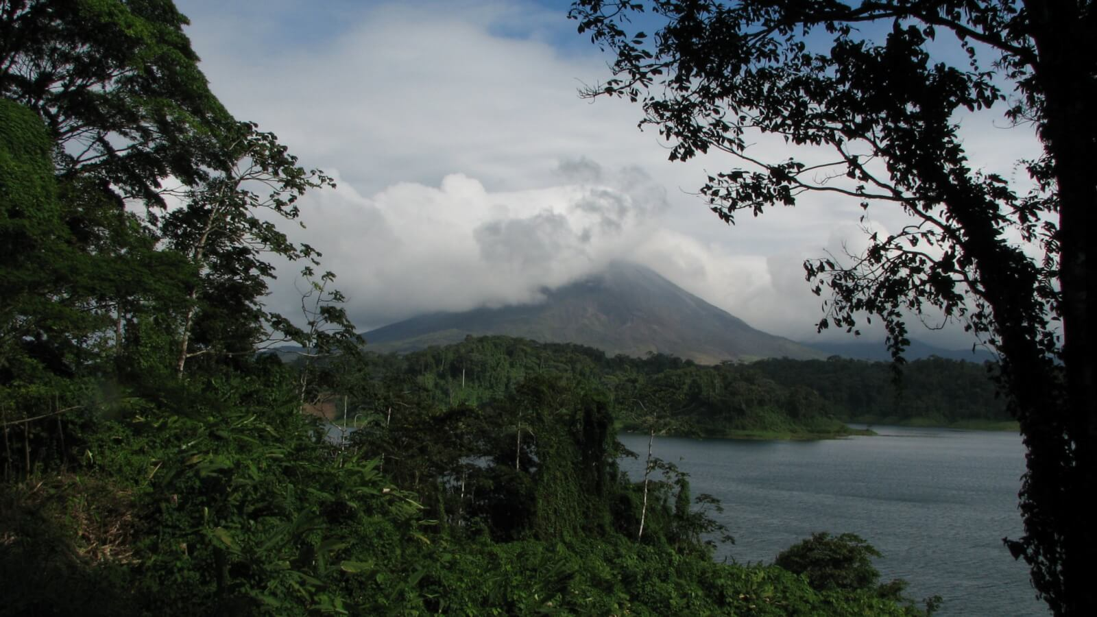 Arenal Volcano in clouds in Costa Rica itinerary