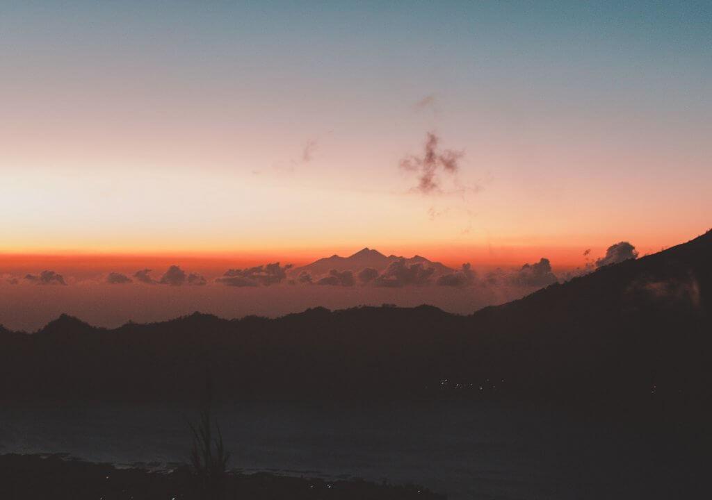 sunrise at Mt Batur in Bali