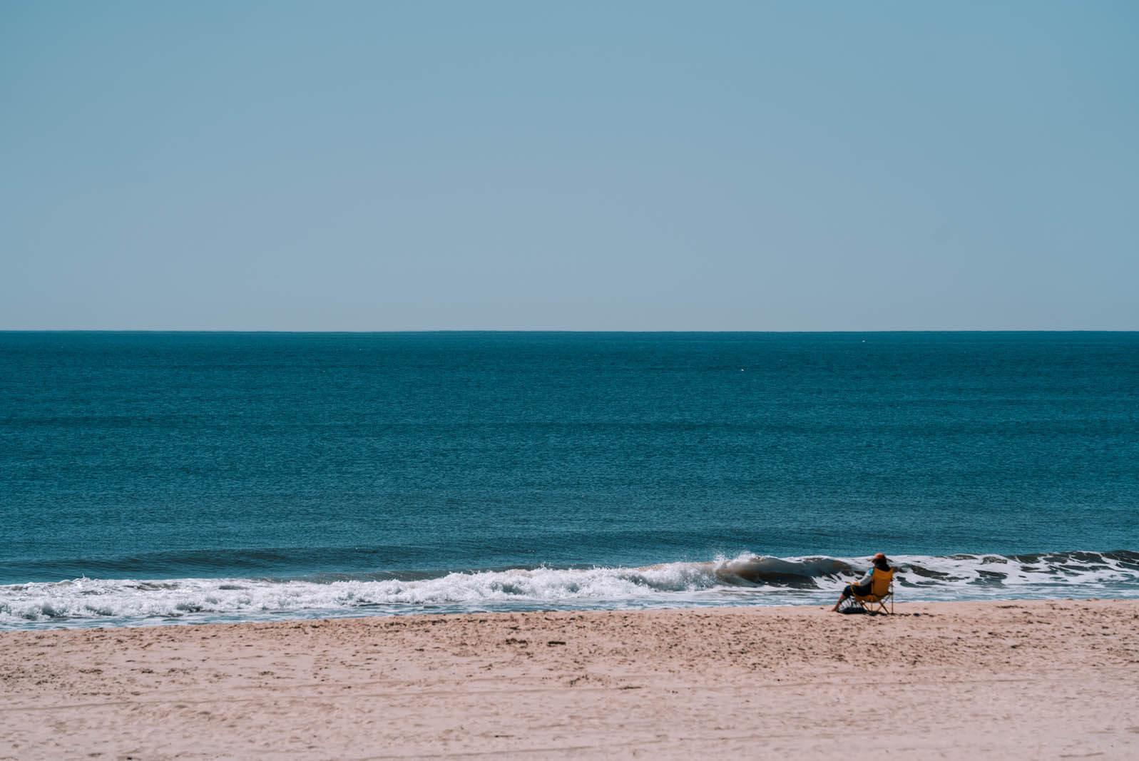 beautiful beach in the Hamptons Long Island New York