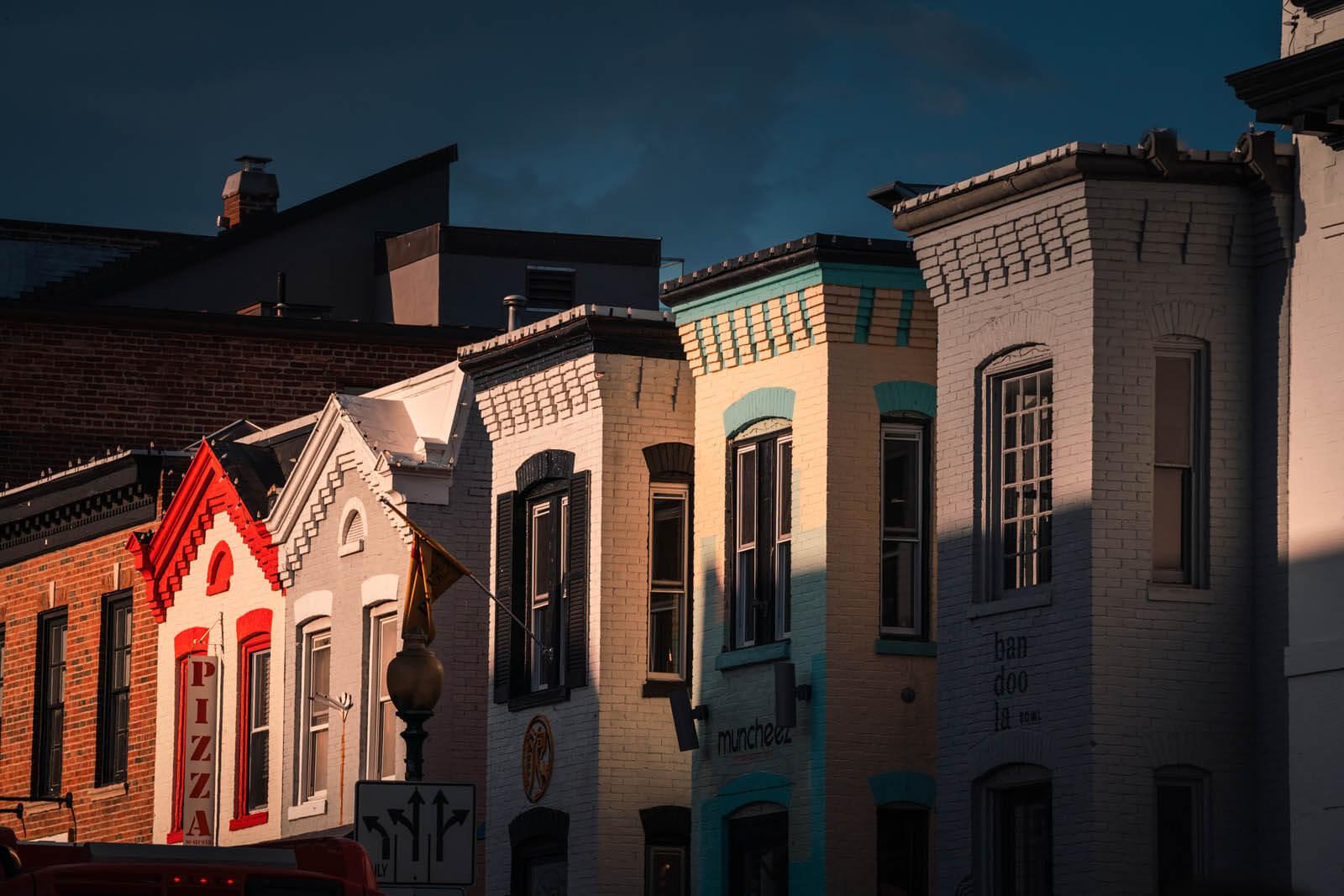 beautiful row of buildings at Georgetown Washington DC
