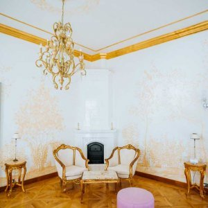beautiful sitting room in Chateau Mccely in the Czech Republic