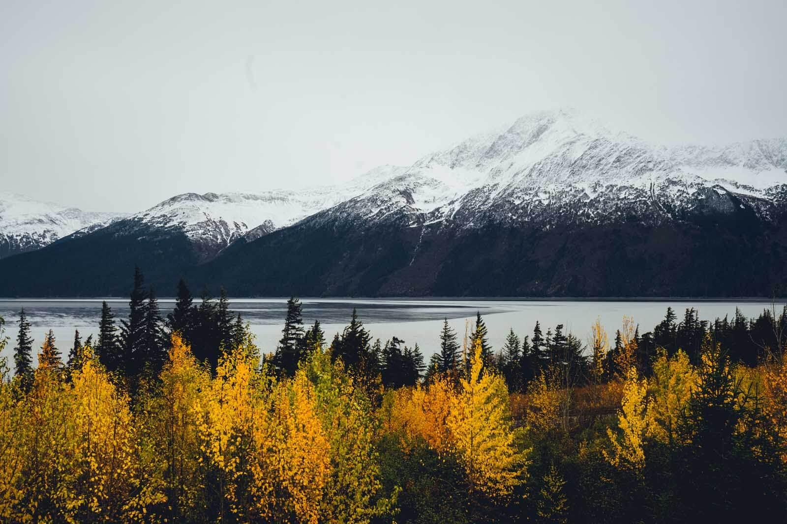 beautiful stop along the Seward Highway in Alaska