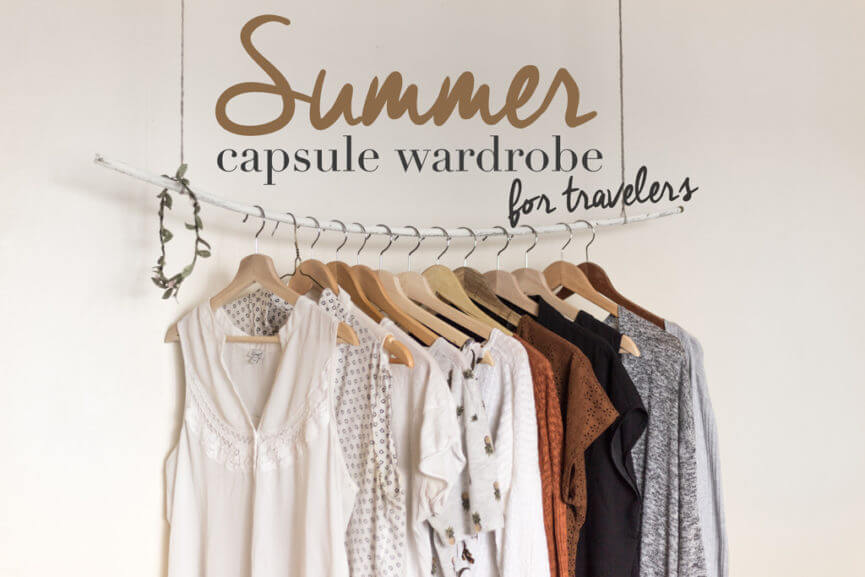 capsule wardrobe summer for travelers cover