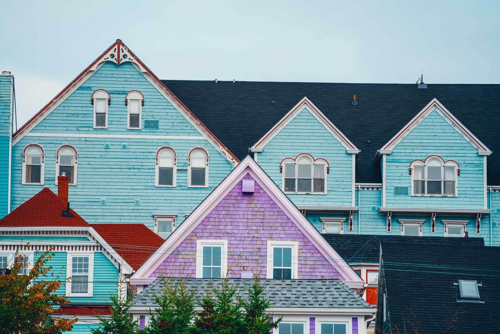 colorful buildings in Lunenburg Nova Scotia