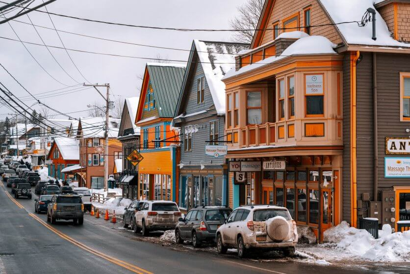 colorful town of Tannersville near Hunter in the Catskills in Upstate New York