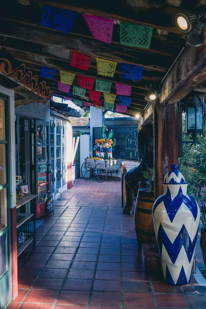 corridor of Fiesta de Reyes in Old Town San Diego