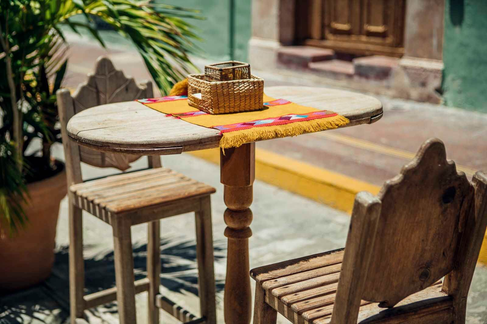 cute table in Campeche Mexico