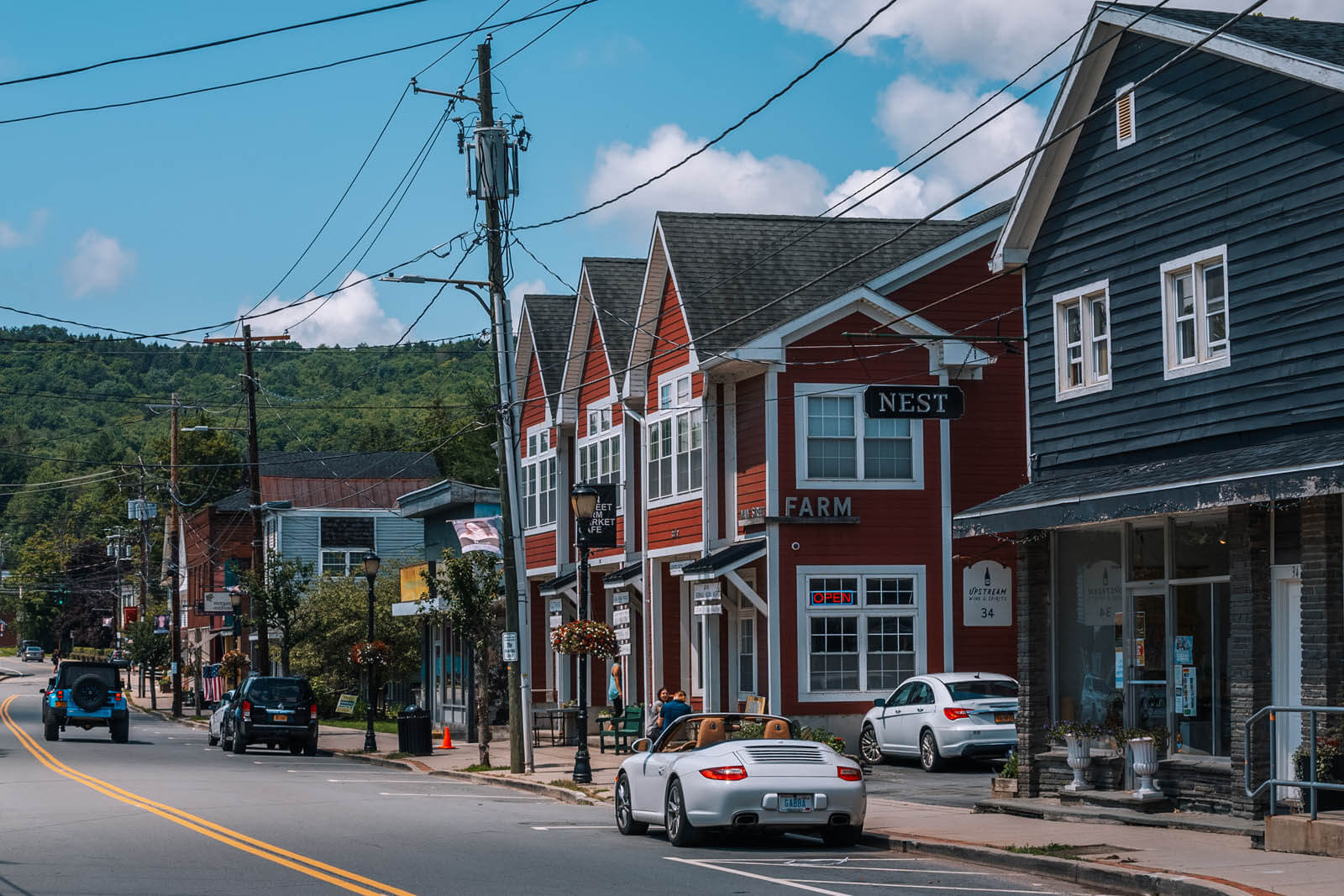 downtown Livingston Manor in the Catskills New York