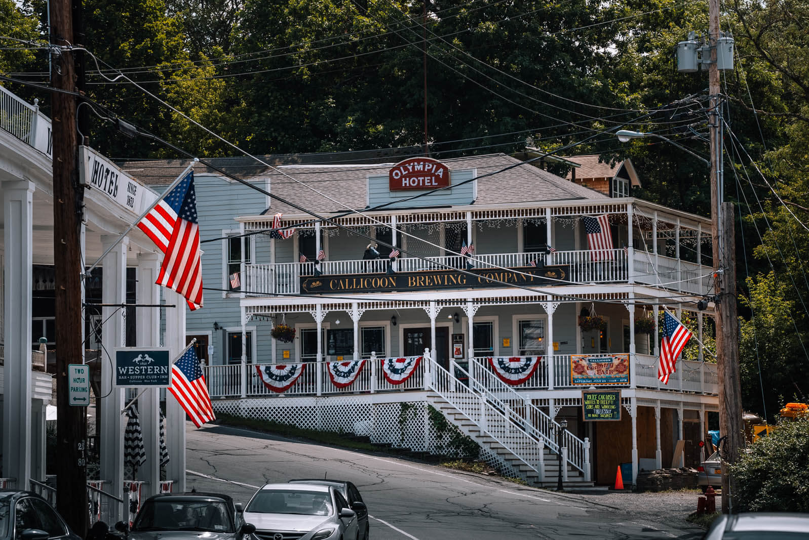 exterior of Callicoon Brewing Company in the Catskills new york