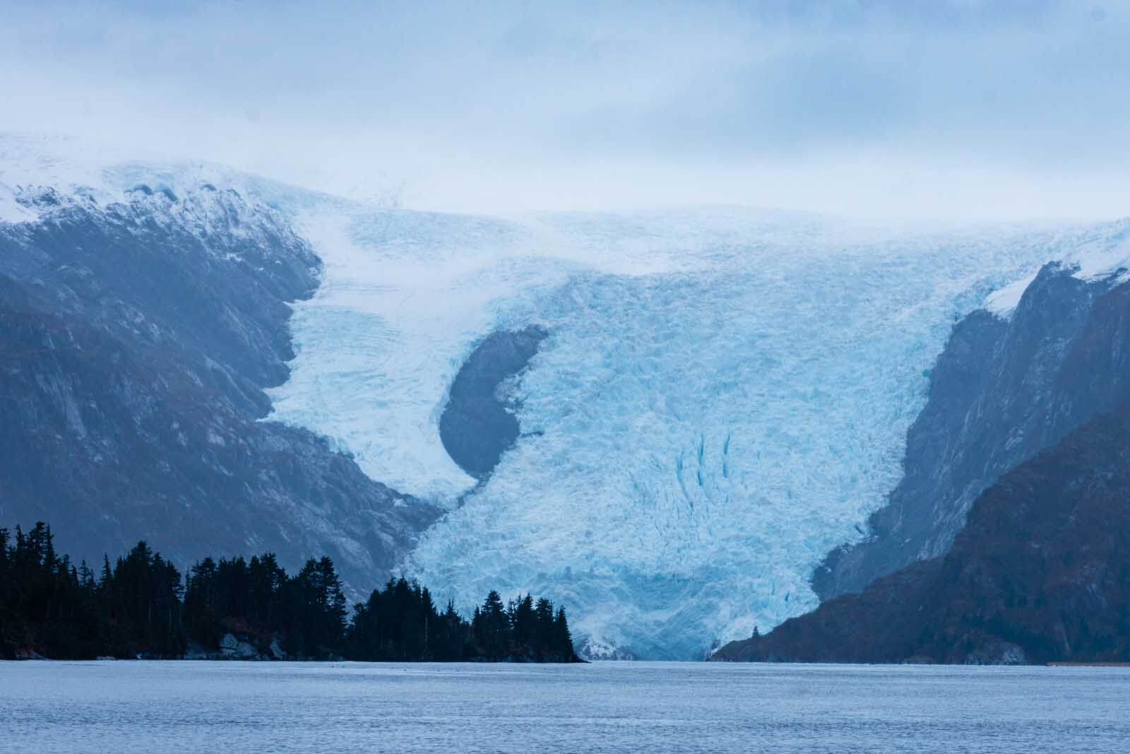 glacier view from Prince William Sound cruise in Alaska