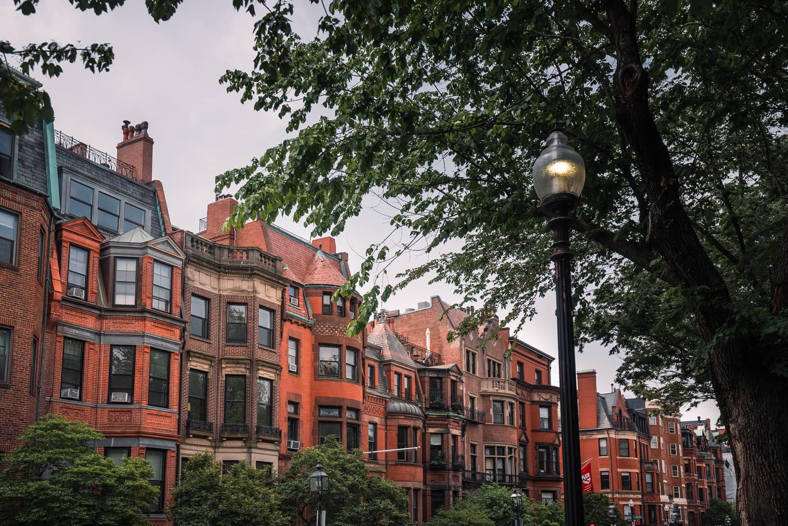 gorgeous homes of Back Bay in Boston Massachusetts