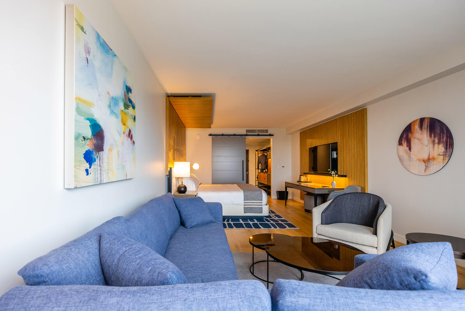 hotel room at Canopy by Hilton Portland Waterfront in Maine