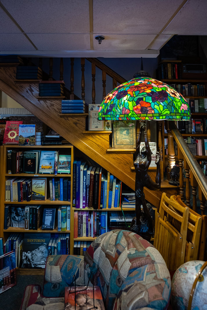 inside Landmark Booksellers book shop in downtown Franklin Tennessee