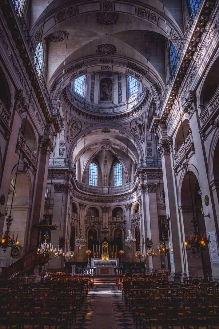 inside the church of saint paul and saint louis in Le Marais Paris